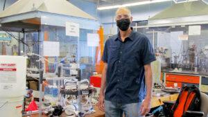 William DeSisto stands in his lab