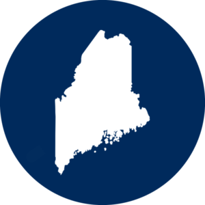 Icon with state of Maine