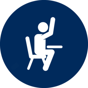 icon of student raising hand