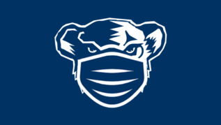 UMaine Black Bear with face mask icon