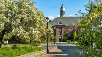 Springtime view of campus