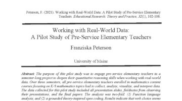 Screenshot of Peterson article