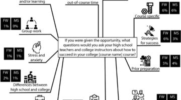 Categories of student questions graphic