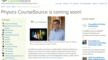 Screen Shot of CourseSource website
