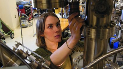 Photo of female researcher in laboratory