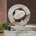 Photo of granit sculpture at UMaine