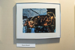 Painting in UMaine art collection