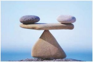 Rocks illustrating balance