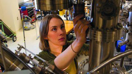 Photo of female grad student in laboratory