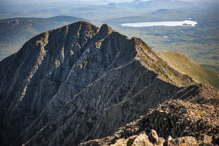 Photo of the Knife's Edge on Mt. Katahdin in Baxter State Park