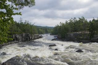 Photo of Penobscot River rapids