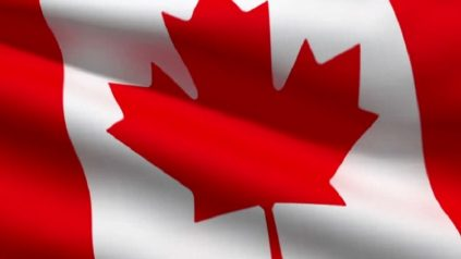 Colored image of Canadian flag