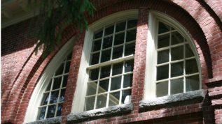 Arched windows in Alumni Hall