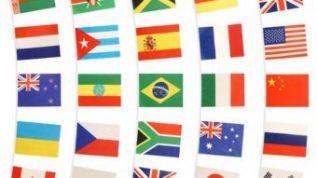 display of international flags