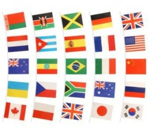 display of international flags