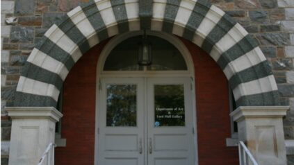 Archway over entrance to Lord Hall