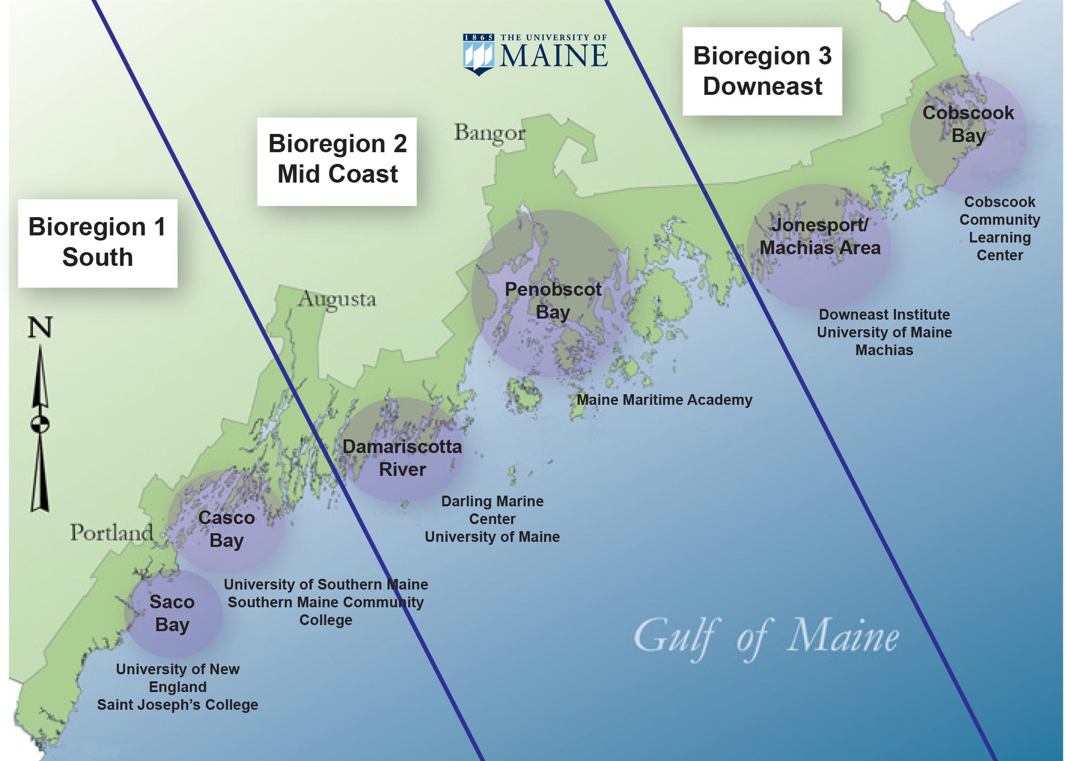 SEANET bioregional map