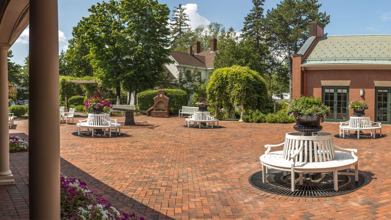 Buchanan Alumni House Courtyard and South Garden