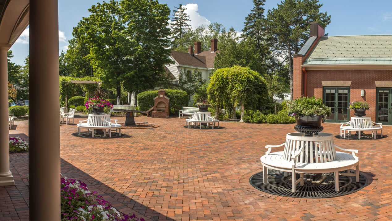 Buchanan Alumni House Courtyard And South Garden Self Guided Walking Tours University Of Maine