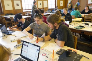 Students Studying at Fogler Library