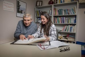 Student working on Certificate Program through Center on Aging with Older Participant