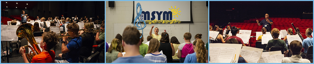 panel of three images featuring msym faculty teaching to young students