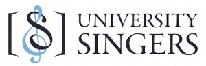 university singers logo with treble clef