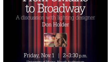 event poster for don holder discussion