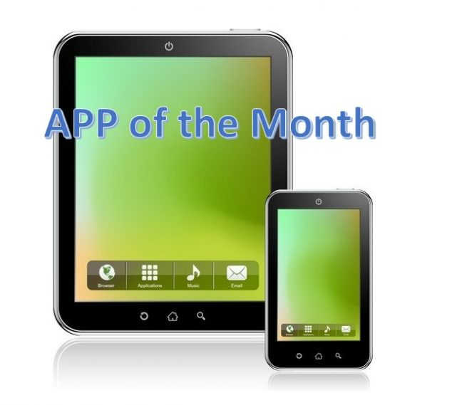 App of the Month logo showing a tablet and cell phone