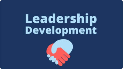 Button link to Leadership Development page