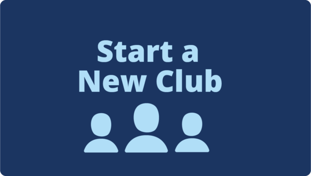 Button link to Start A New Club page