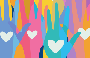 Hands symbolizing philanthropy
