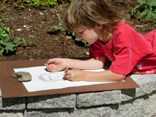A picture of a child drawing