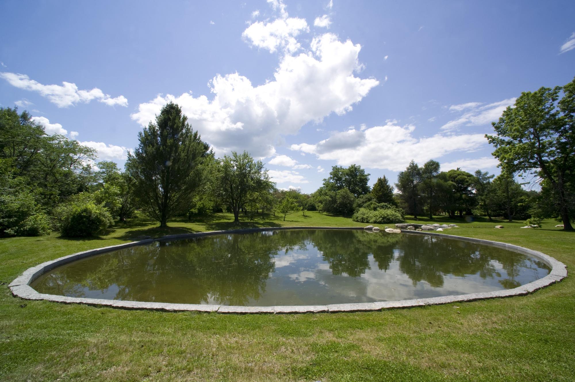 pond in campus gardens