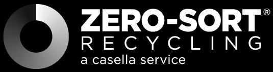 Zero-Sort Recycling - A Casella Service logo black and white
