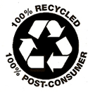 100% recycled content