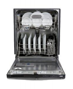Loaded energy efficient dishwasher