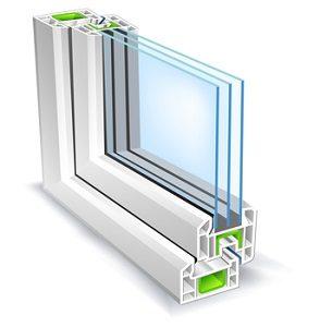 cutout of an energy efficient window