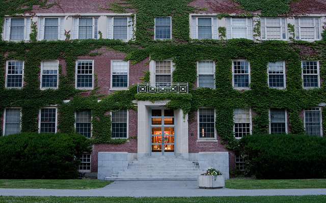 Building with ivy, courtesy University of Maine