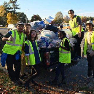 Umaine Students helping with recycling