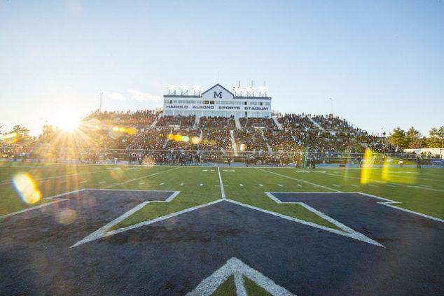 Sunset at Morse Field at Alfond Stadium