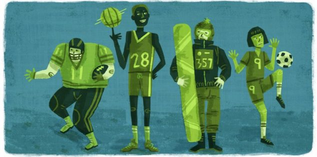 green sports players