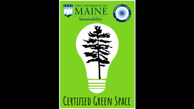 Certified Green Space Sticker for the Green Office Certification program.