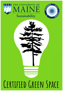 Certified Green Space sticker for Green Office Certification program participants
