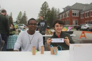 Students tabling at Spring Fest