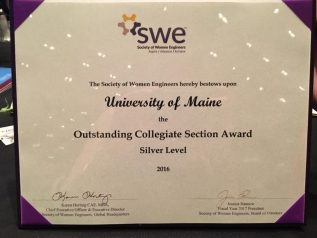 SWE Mission award 2016