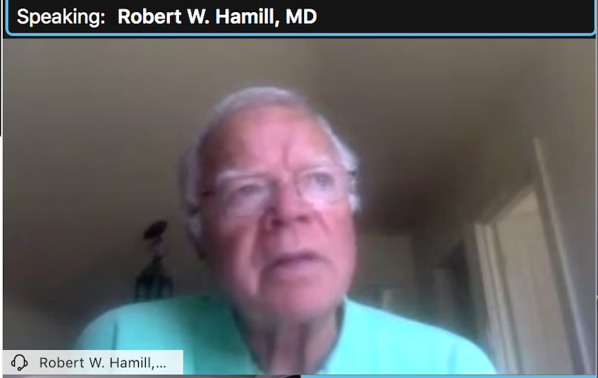 featured image for Dr. Robert Hamill gives presentation to Aphasia Communication Group