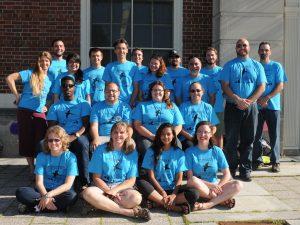 2017 Summer Staff wearing program tshirts