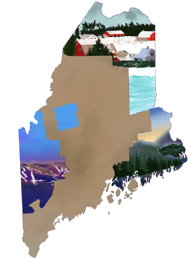 Undiscovered Maine map