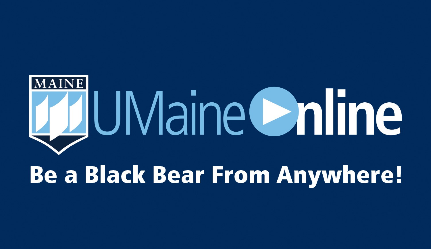 UMaineOnline logo and tagline